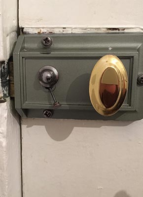 Vintage Safety Locks Door